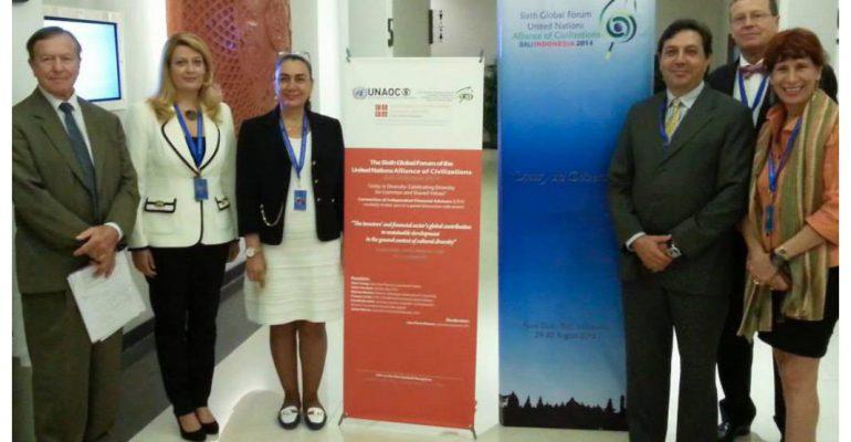 Bali, 28-30 Agosto 2014. La Fondazione Meneghetti – Svizzera al 6° UNAOC Global Foru