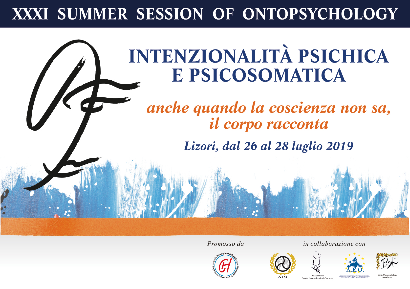 XXXI Summer session of Ontopsychology